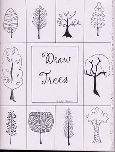 Living Creatively: Draw Trees