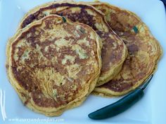 Savory Sweet Potato Pancakes Recipe on Yummly Vegetarian Pancakes, Vegetarian Recipes, Sweet Potato Pancakes, Breakfast Time, Yummy Food, Delicious Recipes, A Food, Brunch, Healthy Eating