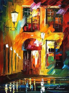 4    WHERE ONLY CATS DON'T SLEEP  12x16 - original oil painting on canvas by Leonid Afremov  | by Leonid Afremov Art Gallery