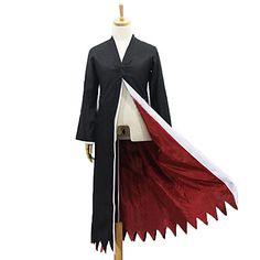 BLEACH Ichigo Kurosaki Black Polyester Cosplay Cloak – USD $ 29.99