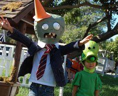Plants vs Zombies DIY Halloween costumes