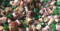 oke langsung aja yah ini bahan-bahan dan juga Resep Masakan oseng Cumi Asin Cabe ijo : Calamari Squid, Indonesian Food, Sprouts, Stuffed Mushrooms, Foods, Vegetables, Country, Stuff Mushrooms, Food Food