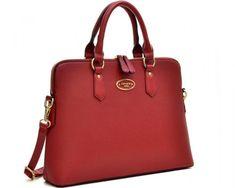 9cd659705f  38.99 chicmarket.com - Dasein Slim Briefcase Tote - Red Shoulder Strap