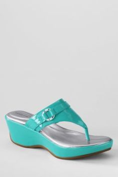 Women's Harbor Light Mid Platform Wedge Thongs from Lands' End...ordered some today.  Hope they are as cute and comfy as they look online.