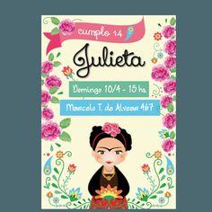 Organiza un cumpleaños de Frida Khalo muy original. Invitaciones de cumpleaños de Frida Khalo