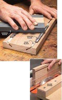 Sharpening Jig for Jointer and Planer Blades - Woodworking Shop - American Woodworker