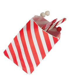 Look what I found on #zulily! Red Stripe Favor Bag - Set of 36 by Party Partners #zulilyfinds