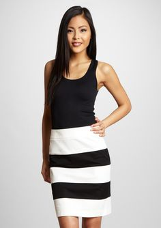 THALIAN Petite Striped Skirt (nice style for inverted triangle body shape--draws attention to the bottom, not the top)