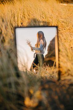 - Mirror Designs - Golden hour portrait through the mirror Golden hour portrait through the mirror Portrait photography Auckland Mirror Photography, Art Photography Portrait, Reflection Photography, Girl Photography, Creative Photography, Digital Photography, Inspiring Photography, Stunning Photography, Photography Tutorials