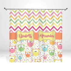 Personalized Owl Shower Curtain by ItsPerfectlyPosh on Etsy, $68.00
