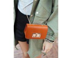 Copious: Little Chain Bag- orange