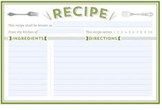 Help Me Find Clean And Modern Recipe Card Templates  Recipe
