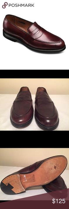 """Allen Edmonds """"Randolph"""" Penny Loafer Sophisticated slip-on calf skin dress shoe in Oxblood.  Single oak leather sole. Like new, very well cared for. Minor scratch barely visible when worn. Size 14W. Allen Edmonds Shoes Loafers & Slip-Ons"""