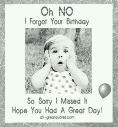 #belated #birthday... Opps!