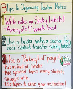 3 Tips to Organizing Teacher Notes - Out of this World Literacy Classroom Organisation, Teacher Organization, Classroom Management, Organization Ideas, Organizing, Reading Notes, Guided Reading, Teaching Reading, Anecdotal Records