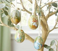 Peter Rabbit ornaments from 2010.