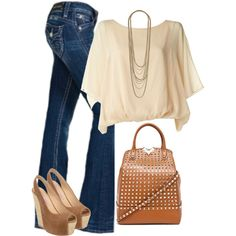Outfit.... Except the purse needs to go