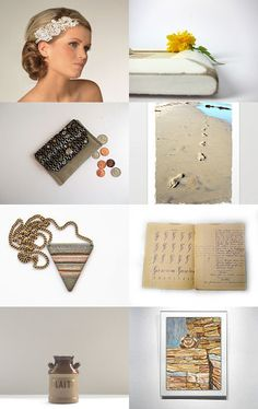 Beige-Brown-White...AND...Footprint... by Juri Kim on Etsy--Pinned with TreasuryPin.com