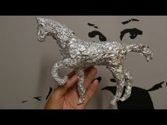How to make a horse with allluminium paper in a few minutes! - YouTube