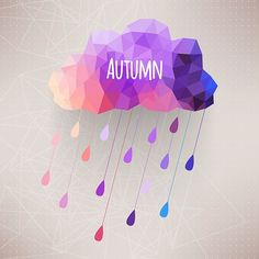 Art. Colorful. Autumn. Parts. Triangles. Cloud. Modern. Abstract. Idea. Project. Herbarium. Markovka. Water. Drops. Fields. Background. Clean.