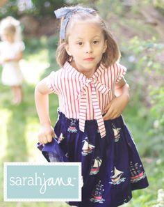 Free pattern for cute little girls nautical dress: The Sarah Jane Out to Sea Dress « Sarah Jane Studios Blog