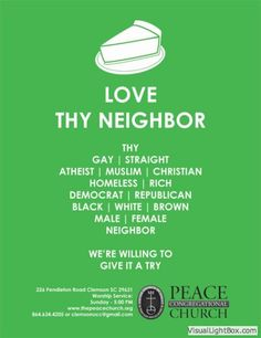 Creative poster project at S. UCC church drives home message of welcome, inclusivity My Church, Church Ideas, I Muslim, United Church Of Christ, Love Thy Neighbor, Worship Service, Creative Posters, Scripture Quotes, Altars