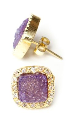Purple Druzy Studds     Please follow:  http://pinterest.com/treypeezy  http://treypeezy.com
