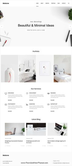 Buy Malone - Minimal Portfolio HTML Template by TonaTheme on ThemeForest. Malone is a minimal, clean modern crafted HTML template built with the latest Bootstrap.The template comes with a l. Blog Layout, Layout Design, Minimal Website Design, Responsive Layout, Modern Crafts, Html Templates, Seo Services, Website Template, Gd