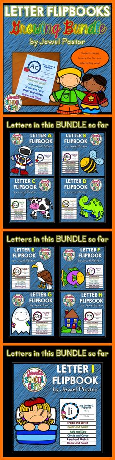 """LETTER FLIPBOOK BUNDLE 