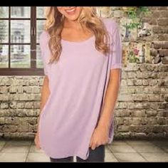 Lavender Piko Top Short sleeved Lavender Piko Top               Bundle with just ONE OTHER ITEM OF ANY PRICE and save 20% on your entire order✨  *Ship within 24 hours (exc. Sundays and holidays) *Top Rated Seller *Smoke Free/Pet Free Home Piko 1988 Tops Tees - Short Sleeve