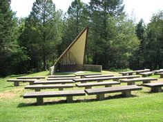 Seating at the amphitheater.