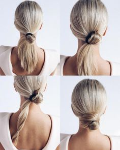 This Bride hairstyles updo is also perfer for soft updo wedding. The celebrity w… This Bride hairstyles updo is also perfer for soft updo wedding. The celebrity wedding hair is bride hair. It's wedding hairstyles for long hair. Gorgeous and Easy Homecomin Curly Hair Styles, Medium Hair Styles, Easy Updos For Medium Hair, Simple Hair Updos, Buns For Long Hair, Casual Updos For Long Hair, Hair Styles Work, Easy Hair Buns, Bun Short Hair