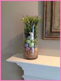 Celebrate the joy of this season along with nature with some adorable Easter tree decoration ideas. Don't Know How To Make An Easter Tree Browse 50 Beautiful Eater Decoration Ideas. Easter will marks the beginning of spring for many of us. Spring Home Decor, Spring Crafts, Holiday Crafts, Easter Tree, Deco Floral, Vase Fillers, Hoppy Easter, Easter Bunny, Easter Party