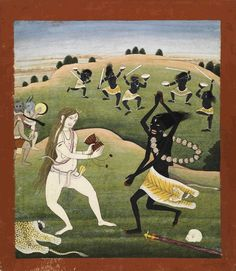 Dance of Shiva and Kali, 18th-19th century.