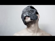 Using computer algorithms and 3-D printing to design fashion accessories including bespoke masks.