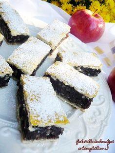 Almás mákos lepény Hungarian Desserts, Hungarian Cake, Hungarian Recipes, Poppy Cake, Cookie Recipes, Dessert Recipes, Winter Food, Food To Make, Cake Decorating