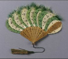 Fan, France, Museum of Fine Arts Boston. This could be easily made from a cheap sandalwood fan. Antique Fans, Vintage Fans, Vintage Antiques, Hand Held Fan, Hand Fans, Chinese Fans, Fan Decoration, Parasol, Museum Of Fine Arts