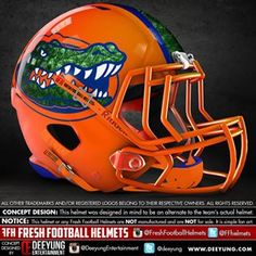 Designer Has Concept Helmets For 43 Of College Football& Top Programs Texas Longhorns Football, Football Usa, Florida Gators Football, Philadelphia Eagles Football, Buckeyes Football, Sport Football, Denver Broncos, Gator Logo, Football Stuff