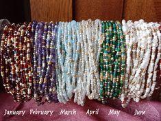 Birthstone Wrap Bracelets Choose Your Month