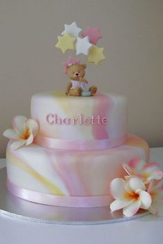 This is another adaptation of the marbled christening cakes I...