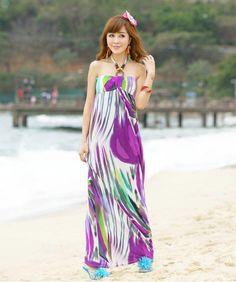 Sexy Boho Sommer Langes Kleid Strandkleid Abendkleid Cocktailkleid