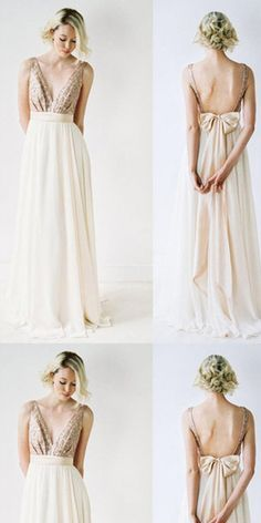 Sexy A-line V-Neck Floor-length Chiffon Prom Dress,Evening Dress,Train Dresses,PDY0365#prom dress#