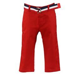 NEl-Blun pitkät mukavan tuntuista kangasta olevat punaiset pitkät housut, joissa mukana vyö. Materiaali: 97% puuvilla, 3% elastaania. www.nellikki.fi