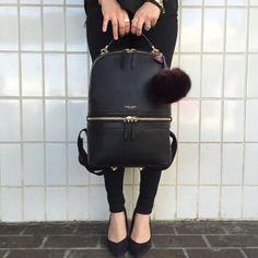 The Soho backpack from Henri Bendel Laptop Backpack, Backpack Bags, Leather Backpack, Fashion Backpack, Henri Bendel, Stylish Backpacks, Work Bags, Soho, Mode Hijab