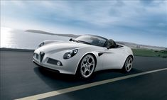 Alfa Romeo 8C Spider - Only 500 were made, all powered by a 4.7-liter 450-horsepower V8 engine developed by Maserati, with a maximum speed of about 180 mph and zero-to-60-mph sprints in roughly four seconds. All were sold before their production even started in Milano, Italy.