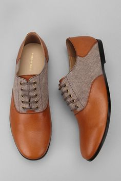Hawkings McGill leather chambray oxford shoes