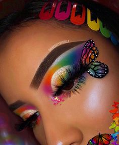 "- History of eye makeup ""Eye care"", quite simply, ""eye make-up"" is definitely an area Dark Eye Makeup, Makeup Eye Looks, Dramatic Eye Makeup, Eye Makeup Art, Crazy Makeup, Smokey Eye Makeup, Eyeshadow Makeup, Eyeshadows, Fairy Makeup"