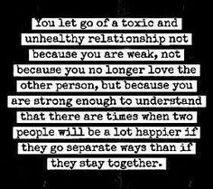 reason enough to let go of someone you love.