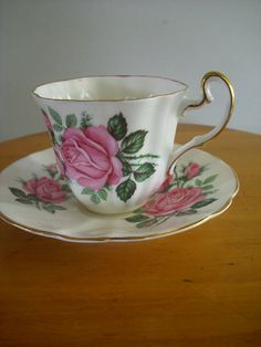 Adderly Tea Cup and Saucer by Rocky1975 on Etsy