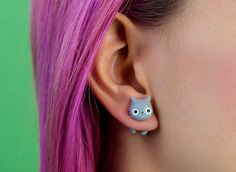 Cats and Pop Culture: a Sooo Cute Cat Earrings Collection by Rita aka Catmadecom #jewelry #cats #earrings #polymerclay #kawaii #handmade #catmadecom #cute